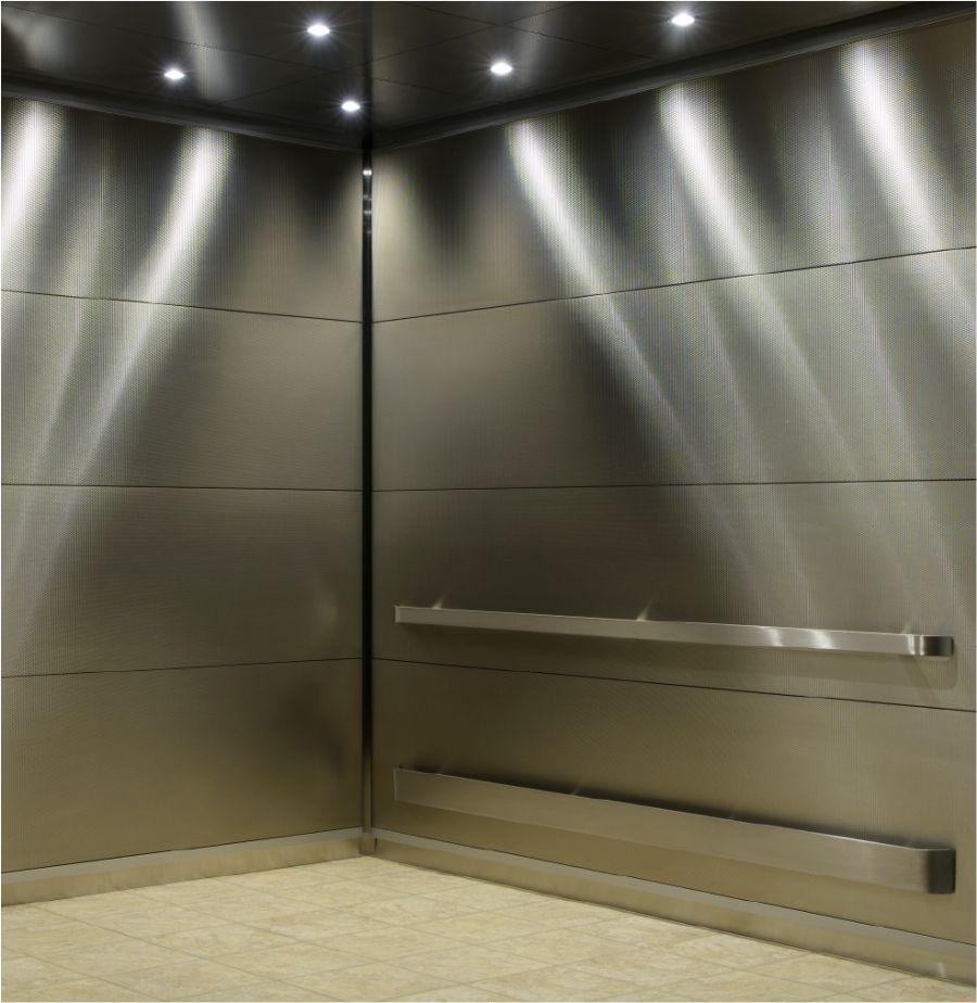 Облицовка лифта нержавеющей сталью